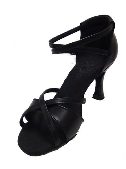 Latin Dance Shoe - Isis Black Leather