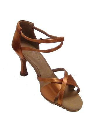 Latin Dance Shoe - Isis Copper Satin