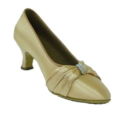 Ballroom Dance Shoe - Lois light tan satin