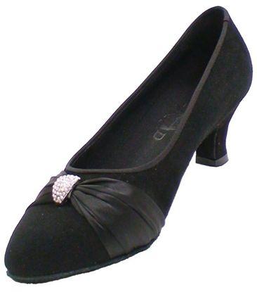 Ballroom Dance Shoe - Lois black nubuck