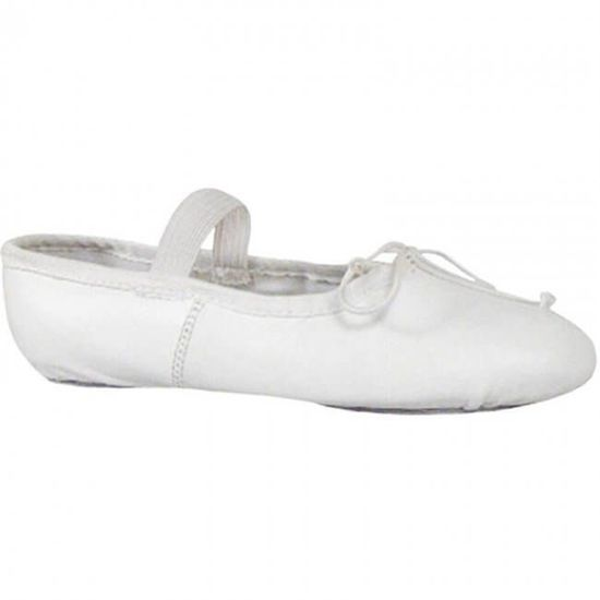 Child white leather ballet shoe