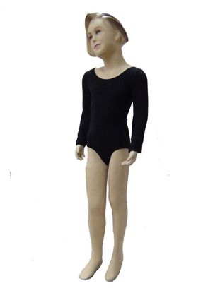 Child Black Long Sleeve Leotard