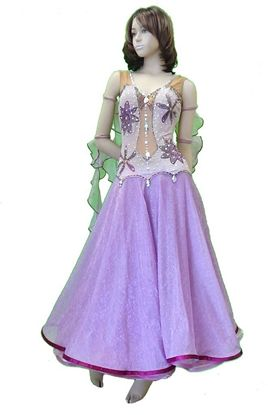 Lilac Ballroom Gown with Full Skirt