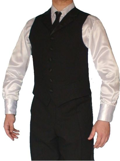 Short Ballroom Vest with Lapels