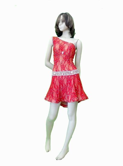 Red Lace Latin Dress