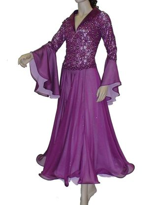 Purple Lace Ballroom Gown
