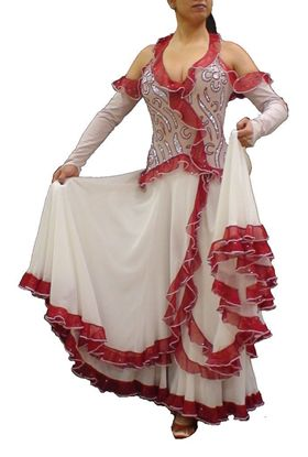 Picture of Spanish Flower Ballroom Gown