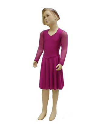Imagen de Basic pre-Teen Syllabus Dress with Mesh Sleeves