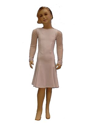 Picture of Two-layer boatneck Latin Dress with mesh sleeves