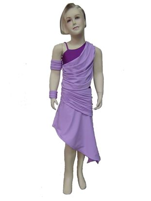 Imagen de Girl Drapy Latin Dress