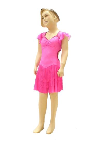 Girl Pink Fringe Latin Dance Dress in Houston-International Dance Design 8d61d95892