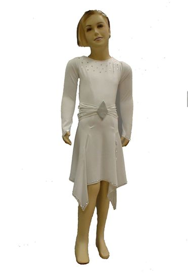 Imagen de Girl Latin Dress with Hanckerchief Skirt