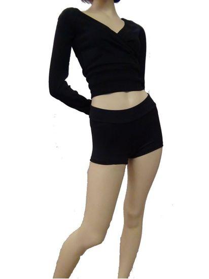 Picture of Ladies Black Boy Shorts