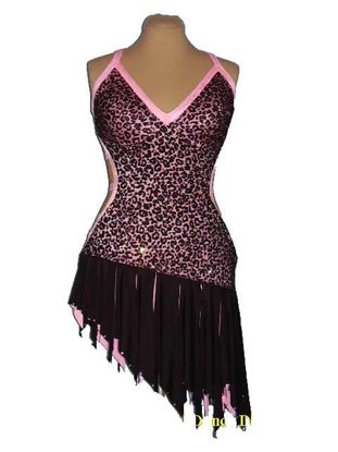 Picture of Pink Leopard Latin Dress