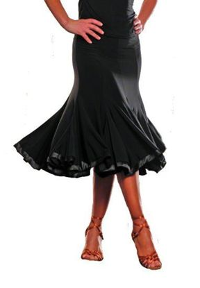 Picture of 8 Panel Banded Silhouette Skirt - black