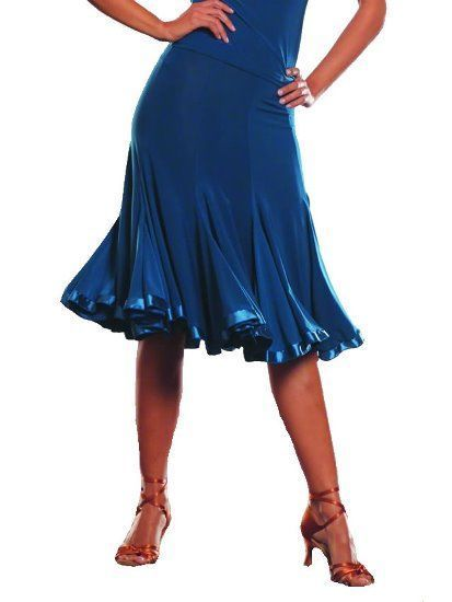 Picture of 8 Panel Banded Silhouette Skirt - teal