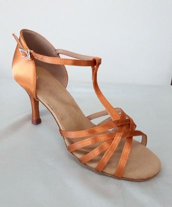Clearance dance shoes in Houston -copper satin sandal