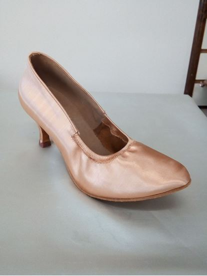 Clearance dance shoes in Houston -Katusha tan satin