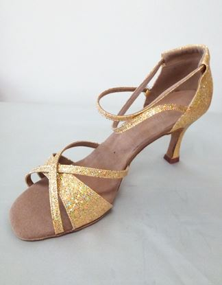 Clearance dance shoes in Houston -Isis gold sparkle
