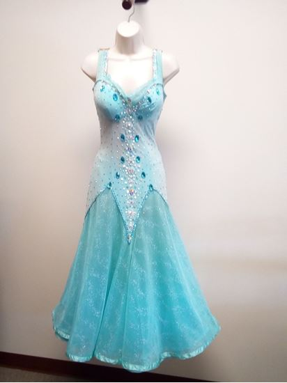 Light Turquoise Ballroom Gown for rent or sale in Houston