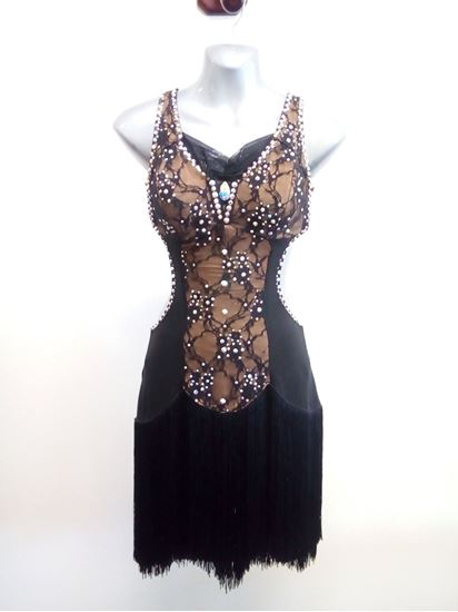 Black and Gold Latin dress for rent or sale in Houston