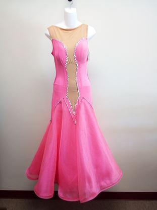 Neon Pink Ballroom Gown for rent or sale in Houston