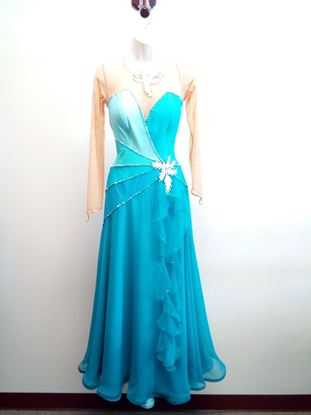 Very elegant Shades of Green Ballroom Gown for rent or sale in Houston