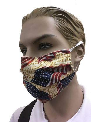 American Flag coronavirus Fashion Face Mask (3-layer)