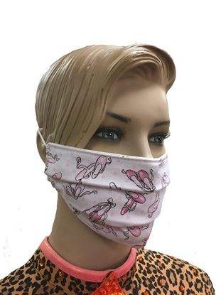 Ballet Shoes coronavirus Fashion Face Mask (3-layer)
