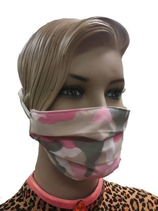 coronavirus Fashion Face Mask (3-layer) -pink camouflage