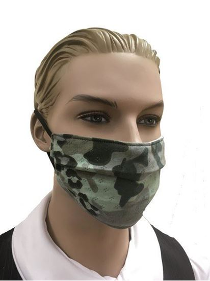 coronavirus Fashion Face Mask (3-layer) -green camouflage