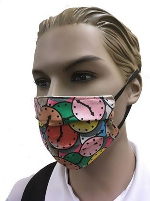 coronavirus Fashion Face Mask (3-layer) -clock print