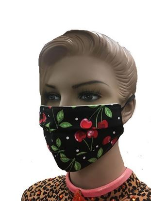 coronavirus Fashion Face Mask (3-layer) -  Cherries