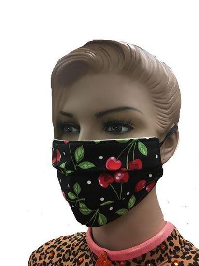 coronavirus Fashion Face Mask (3-layer) -  Cherries
