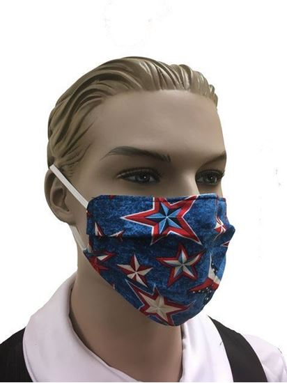 coronavirus Fashion Face Mask (3-layer) -Denim Stars