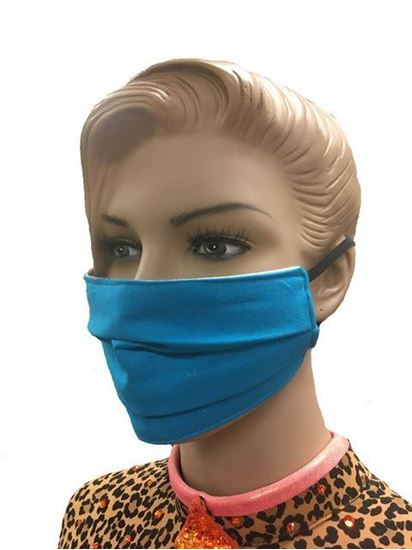 coronavirus Fashion Face Mask (3-layer) -Electric Blue