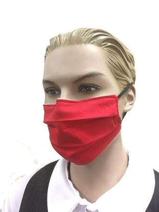 Bright Red coronavirus Fashion Face Mask (3-layer)