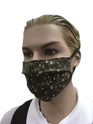 Camouflage Animal Tracks - coronavirus Fashion Face Mask (3-layer)