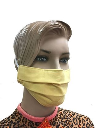Sunshine Yellow  coronavirus Fashion Face Mask (3-layer)
