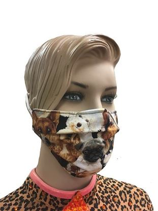 K9 Collage coronavirus Fashion Face Mask (3-layer)