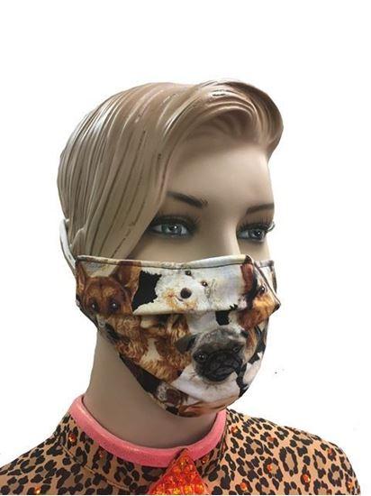 K9 Collage coronavirus Fashion Face Mask (3-layer)