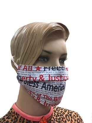 America God Bless USA coronavirus Fashion Face Mask (3-layer)