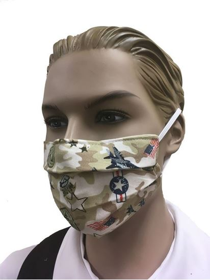 COVID-19 Coronavirus Fashion Face Mask Military Camouflage