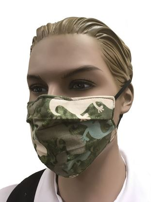 COVID-19 Coronavirus Fashion Face Mask Gecko Camouflage