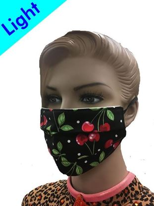 Light Reusable Coronavirus Fashion Face Mask (Cherries)
