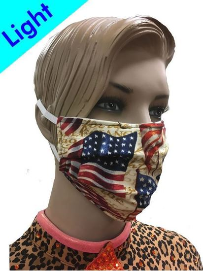 Light Reusable Coronavirus Fashion Face Mask (American Flag)