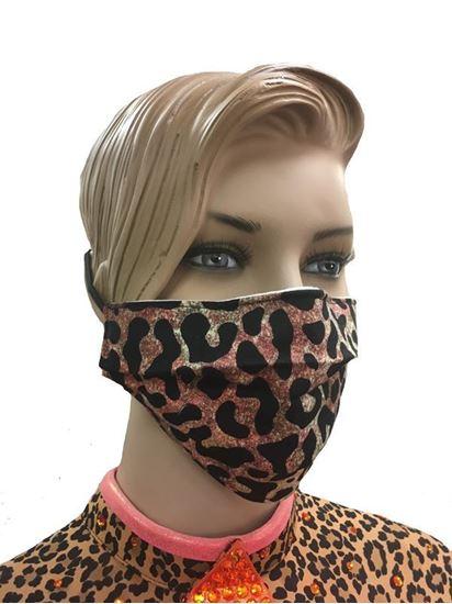 COVID-19 Coronavirus Fashion Face Mask Ombre Leopard