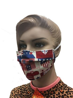 COVID-19 Coronavirus Fashion Face Mask Heart of America