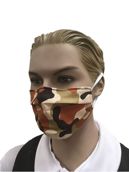 coronavirus Fashion Face Mask (3-layer) -camouflage