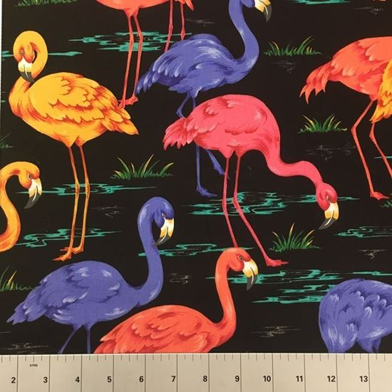 Flamingos (100% Cotton Fabric)